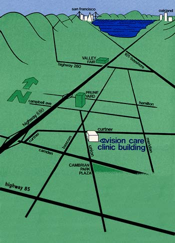 map to Vision Care Clinic